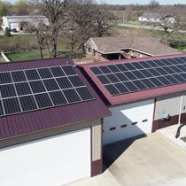 Metal roof array