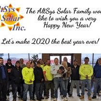 Holiday Photo of the AltSys Solar Family