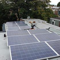 Solar installation in Fairmount neighborhood of Philadelphia