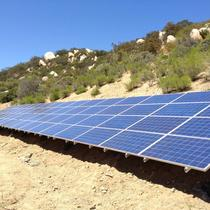 Residential ground mounted solar systems.