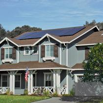 Residential solar roof mounted systems.