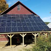 Custom built carport + solar system