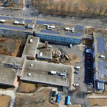 Commercial solar installation in Connecticut.