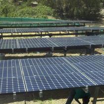 19 kW multi pole ground mount system installed in the hills overlooking Los Gatos.  Allterra designed, engineered, & installed.