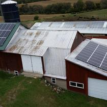 Dairy Farm Solar Roof Mount