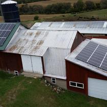 Dairy Farm Solar Roof Mount