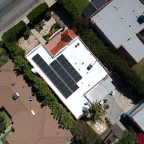 Beautiful Flat Roof Solar Panels System Installation in Los Angeles with Solar Flex Coating #Panasonic HIT Panels and HD #SolarEdge Inverter.