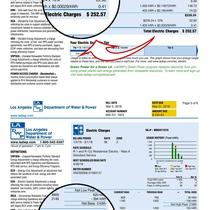 One of Our Happy Customer Actual LADWP Electric Bill.