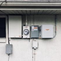 Enphase Combiner and Service Disconnect on an installation in Palm Bay, FL