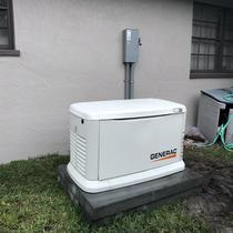 Backup whole-home generator installed wiht a solar panel system in Dunedin, FL