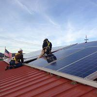 non profit roof mounted solar array