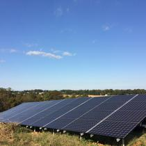 Ground mounted solar array.