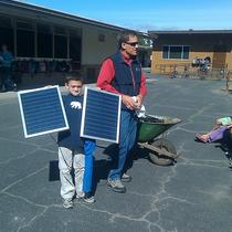 Training and recruiting future solar installers at the local elementary school.
