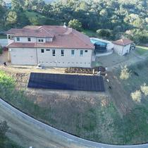 Hillside Ground Mount Installation
