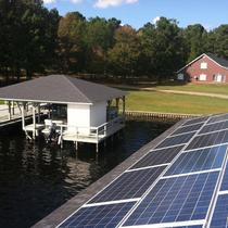 Install on a boathouse