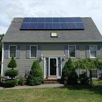 Here is an example of a residential solar installation in Attleboro, MA