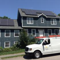Residential solar PV rooftop system in MA
