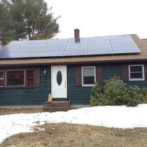 This is a residential property in Newton, MA that switched to solar power to lower their energy costs and further build their home investment