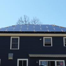 Here is a single-family house in Rochester, MA that converted to solar energy.