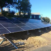 Ground mount installation by Elite Solar