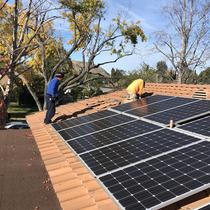 Solar Installation on a tile roof