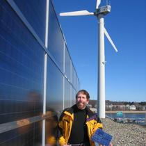Steven Strong at PV+Wind Install for IBEW- Boston, MA