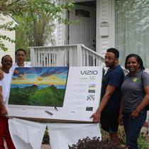 "Going Solar with STTR!Get a a Free 55"" 4K Color TV ike the Abrahas of Silver Spring, MD"