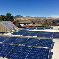 7.84kW Ballast mount on flat roof in Boulder, CO