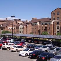 100,000 watt solar carport CU Boulder