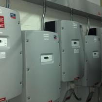 Inverters at Whitestone Commercial Site