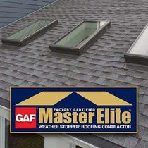 We are GAF Certified Master Elite Roofers