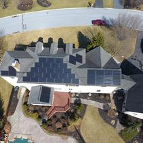 Sky view of our All Black solar module made in North America