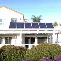 Tilted Panel Installation, Axitec Solar Panels