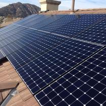 Close-up view, installed SunPower 327W Panels
