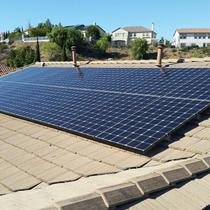 Flat Tile Roof installation, SunPower 327W Panels