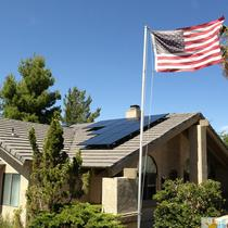 American made solar panels installation
