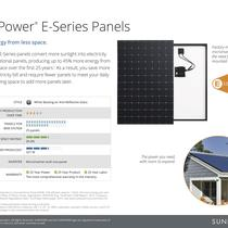 SunPower E-series panels