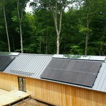 A 7.42 kW roof mount solar system installed in June on a home in Bethany, CT.