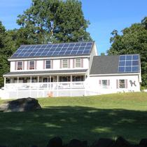In August 2014, Earthlight installed a 12 kW solar power system on the roof of a home in Tolland, CT.