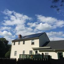 A 7.54 kW roof mount solar system installed in July on a home in Tolland, CT.