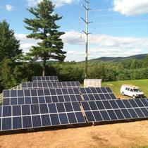 A 30 kW ground mount solar system installed in July on a home in Somers, CT.