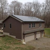 A 10.5 kW roof mount solar system installed in April on a home in Ashford, CT.