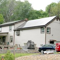 In April 2014, Earthlight installed a 8.5 kW solar power system on the roof of a home in Tolland, CT.