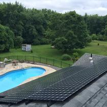 In April 2014, Earthlight installed a 19.5 kW solar power system on the roof of a home in Vernon, CT.