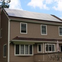 In May 2014, Earthlight installed a 7.2 kW solar power system on the roof of a home in Willington, CT.