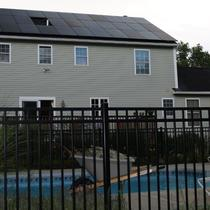 In May 2014, Earthlight installed a 8 kW solar power system on the roof of a home in Tolland, CT.