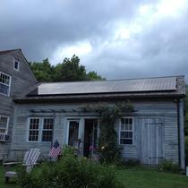 A 5 kW roof mount solar system installed in April on a home in Union, CT.