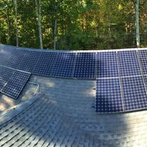 In August 2014, Earthlight installed a 6.87 kW solar power system on the roof of a home in Tolland, CT.