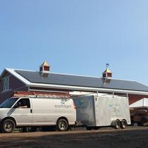 In March 2014, Earthlight installed a 27.6 kW solar power system on the roof of a barn in Ellington, CT.