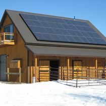 Grid Tied barn in Gunnison
